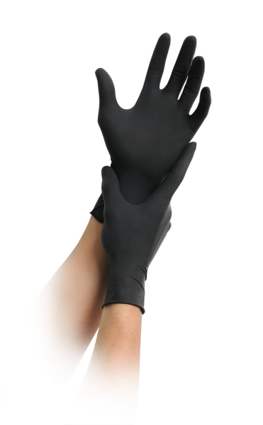 MaiMed - Black LX grip PF Latexhandschuh