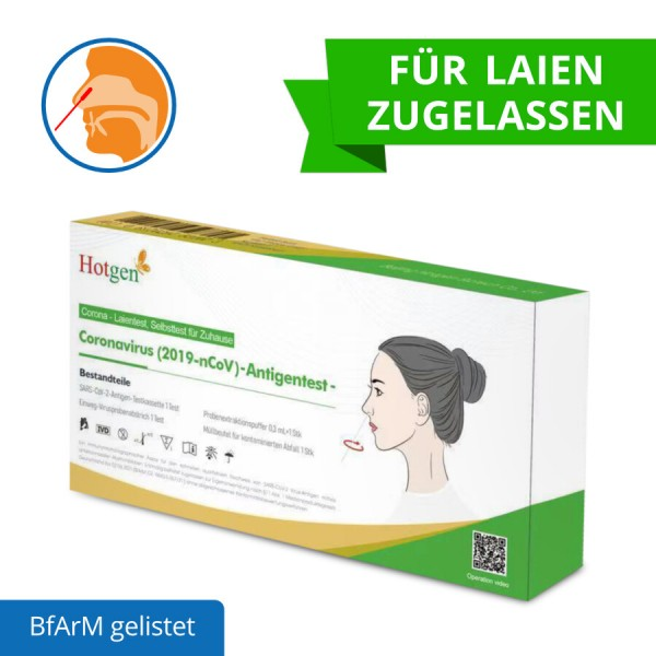 Laien-/Selbsttest Novel Coronavirus 2019-nCoV Antigen Test (Colloidal Gold) Nasal